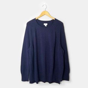 NWT OLD NAVY Navy Blue Scoop Neck Sweater